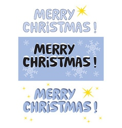 Merry Christmas sign vector