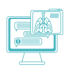 online doctor computer chatting consultation vector image