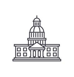 parliament line icon concept parliament vector image