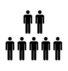 People icon - group of men team symbol vector