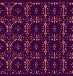 purple seamless pattern with ethic tribal elements vector image