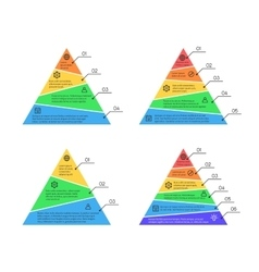 Pyramid layers chart infographic elements vector image
