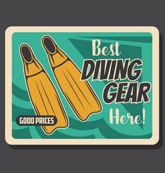scuba diving and sea snorkeling sport shop vector image