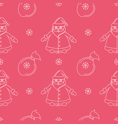 Seamless new suitable pattern with santa claus vector