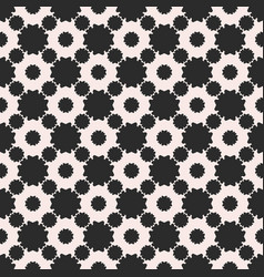 Seamless pattern abstract floral geometric texture vector