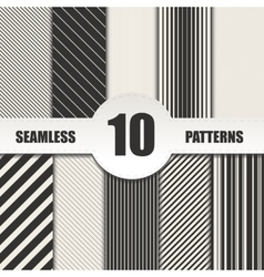 Set line seamless patterns background vector image