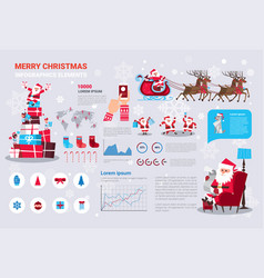 Set of template infographic elements with merry vector