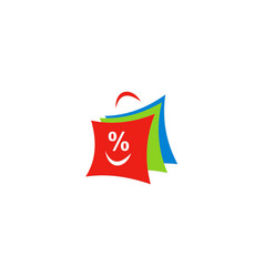 Shopping bag discount logo vector
