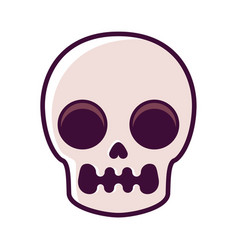 skull pattern on white background vector image