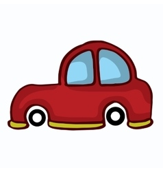 Small car style design for kids vector image