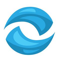 stylized water splash vector image