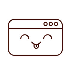 template webpage kawaii character vector image
