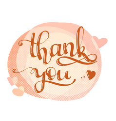 thank you lettering quote vector image