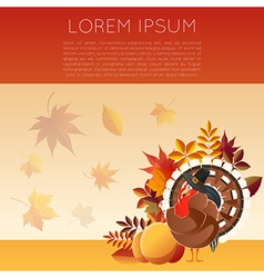 Thankgiving day banner7 vector image