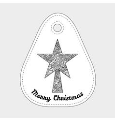 Toys on christmas tree - star Christmas vector image