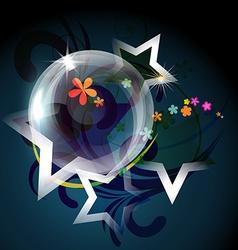 Transparent bubble vector