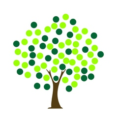 tree dot vector image