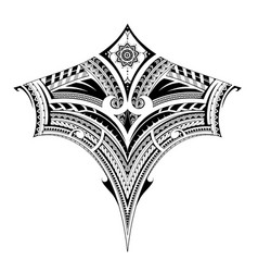 Tribal art tattoo for chest and back area vector