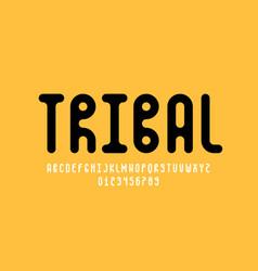 Tribal style font design vector