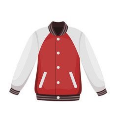 uniform baseball jacket baseball single icon in vector image