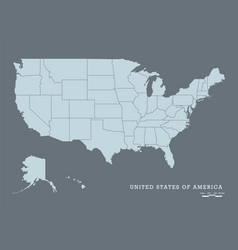 usa map with federal states vector image