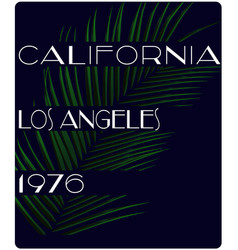 vintage retro california slogan summer style vector image