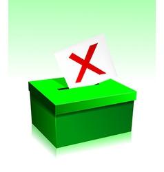 Vote boxe vector image
