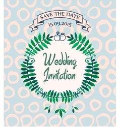Wedding invitation card design template vector