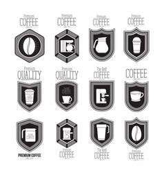 White background of set logo design of emblem vector