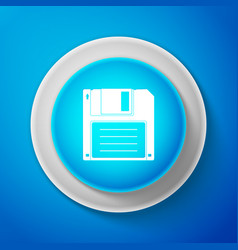 white floppy disk for computer data storage icon vector image