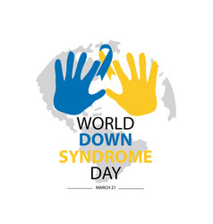 world down syndrome day march 21 vector image