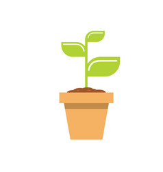 young sprout in a flowerpot - concept of a vector image