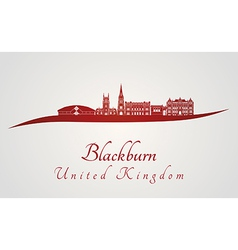 Blackburn skyline in red vector image vector image