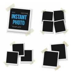 Blank Vintage Photo Frame Mockup Set Isolated vector image vector image