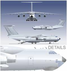 cargo airplane vector image