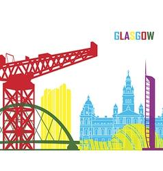 Glasgow skyline pop vector image