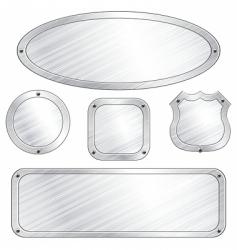metal plaques vector image