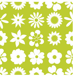 seamless floral pattern repeated flowers vector image vector image