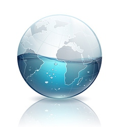 water inside the planet earth vector image vector image