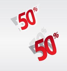 50 sale percents label vector image vector image