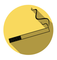 smoke icon great for any use flat black vector image vector image