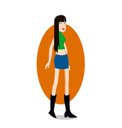 trend girl vector image vector image