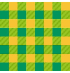 Yellow Green Chessboard Background vector image vector image