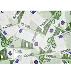 100 euro bills background vector