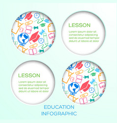 abstract education infographic concept vector image