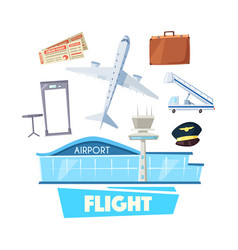 airport and flight service icon for travel design vector image