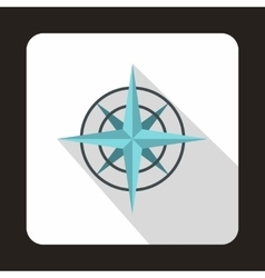 Ancient compass icon in flat style vector