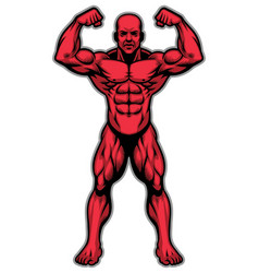 bodybuilder athlete showing his muscle body vector image