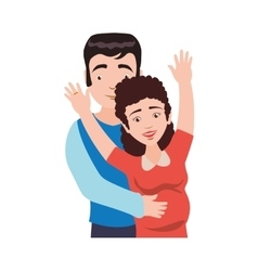 Family couple parents mothers father icon vector