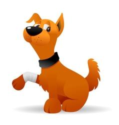 injured dog vector image vector image